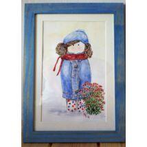 Akvarell festmény: Virágok