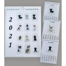 Névnapos naptár: Kutyák (A5)