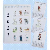 Névnapos naptár: Szöszállatok (A4)