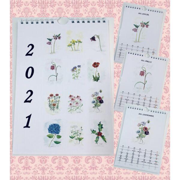 Névnapos naptár: Virágok (A4)